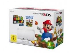 Nintendo 3DS Bundle: Nintendo 3DS Konsole (weiss) + Super Mario 3D Land + Mario Tennis Open für nur 195€