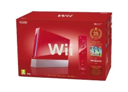 Nintendo Wii Jubiläums-Pack: Rote Konsole inkl. Wii Sports, New Super Mario Bros. Wii, Donkey Kong + Motion Plus Controller für 199,99€ inkl. Versand