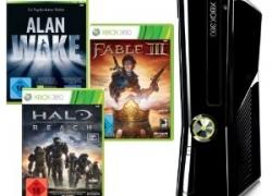 [Aktion] Xbox360 250 GB + Alan Wake, Halo Reach und Fable III (DLCs) + FIFA Street + 2. Wireless Controller für NUR 275€