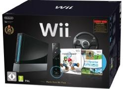 Nintendo Wii Mario Kart Pak Konsolen Bundle inkl. Wii Sports, Mario Kart Wii, Wii Lenkrad + Remote Plus Controller für 188,99€ inkl. Versand