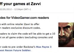 10% Zavvi Gutschein nach Anmeldung bei videogamer.com