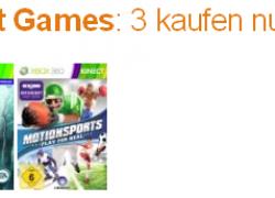 Xbox 360: 3 Kinect Games kaufen, nur 2 bezahlen – z.B. Kinectimals + Joy Ride + Dance Central für 75,38€ inkl. Versand