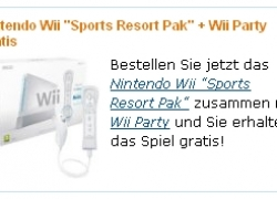 Nintendo Wii Sports Resort Pak + Wii Party für 198,44€ inkl. Versand