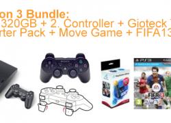 HOT!!! [PS3 Bundle] PS3 320GB Slim + Move Starter Pack + 2. Controller + Zubehör + FIFA13 + 2. Spiel für ca. 285€