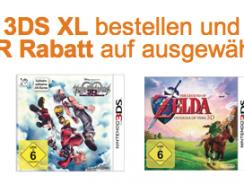 [Aktion] Nintendo 3DS XL bestellen und 26.99 EUR Rabatt auf ausgewählte Spiele erhalten