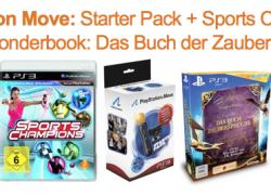 [Aktion] Move Starter Pack + Sports Champions + gratis Wonderbook: Das Buch der Zaubersprüche für nur 49,99€