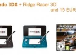 Angebot: Nintendo 3DS + Ridge Racer 3D und 15 Euro sparen