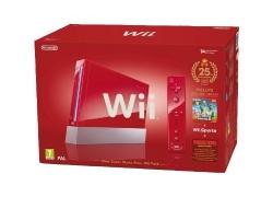 Nintendo Wii Jubiläums-Pack: Rote Konsole inkl. Wii Sports, New Super Mario Bros. Wii, Donkey Kong + Motion Plus Controller für 199,99€ inkl. Versand