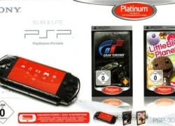 PSP Konsole Slim&Lite Base Pack Black + Gran Turismo & Little Big Planet für 118,96€ inkl. Versand