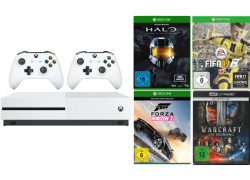 MICROSOFT Xbox One S 500GB Sparket (FIFA 17, Halo Collection, Forza Horizon 3, 2. Controller) für 319€