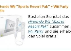 Nintendo Wii Sports Resort Pak + Wii Party für 198,44€ inkl. Versand